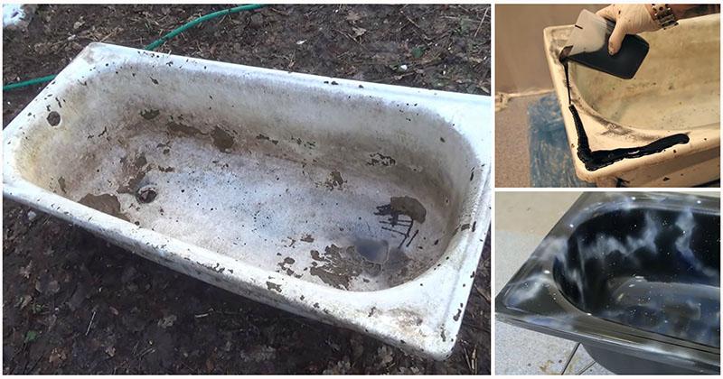 Перерождение «убитой» ванны: разительное «до» и «после»