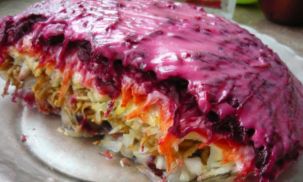 Пошаговый рецепт салата селедка под шубой