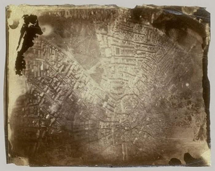 Первая в мире аэрофотосъемка, 1858 год, Франция было, история, фото