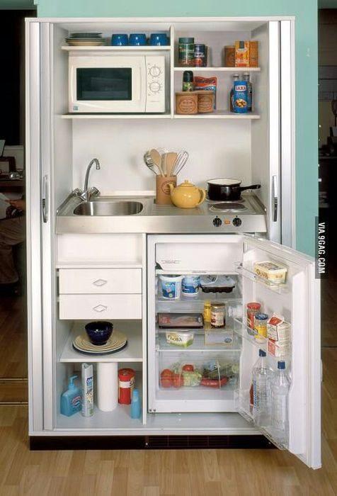 Что делать, если площадь кухни не превышает нескольких квадратных метров?