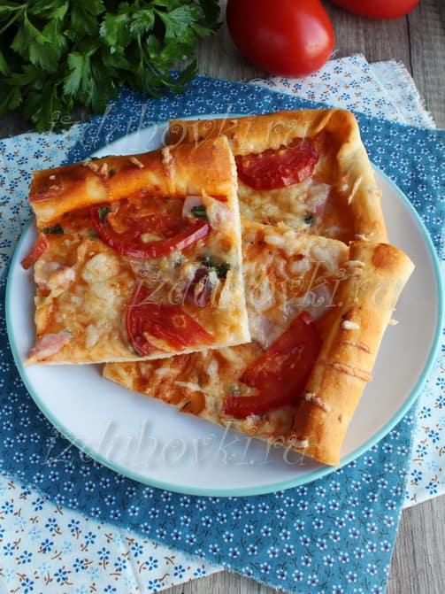 Пицца с дрожжевым тестом пошаговый