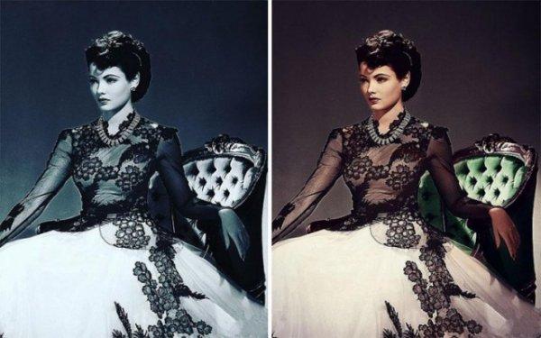 Старые ретро фотографии до и после того, как их раскрасили