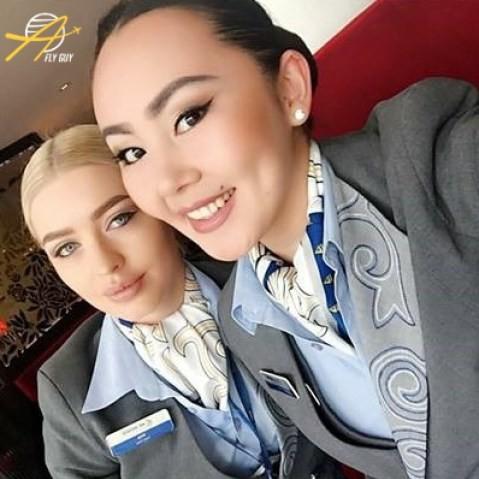 10. Казахстан - Эйр Астана люди, пилоты, стюардессы