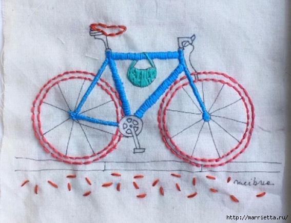 Вышиваем велосипед. Идеи со схемами (42) (567x435, 165Kb)