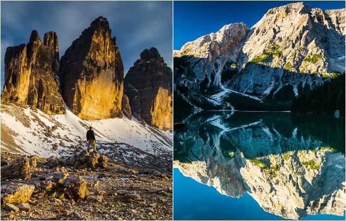 Доломитовые Альпы – это заповедник в Италии, который входит в список ЮНЕСКО.