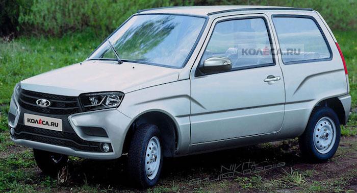 Представлен дизайн возрожденной «Оки» в стиле Lada Vesta