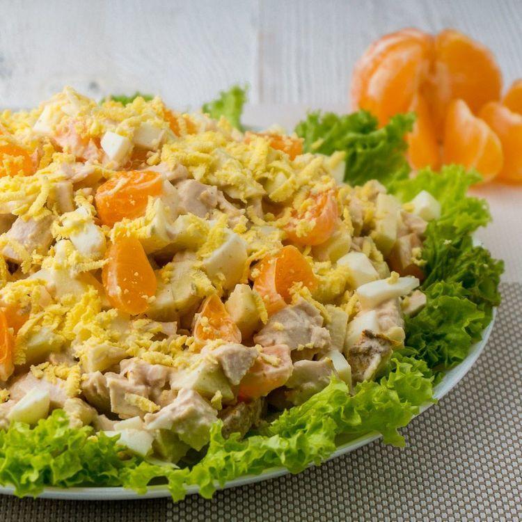 Изумительно Вкусный Салат с Мандаринами и Курицей.