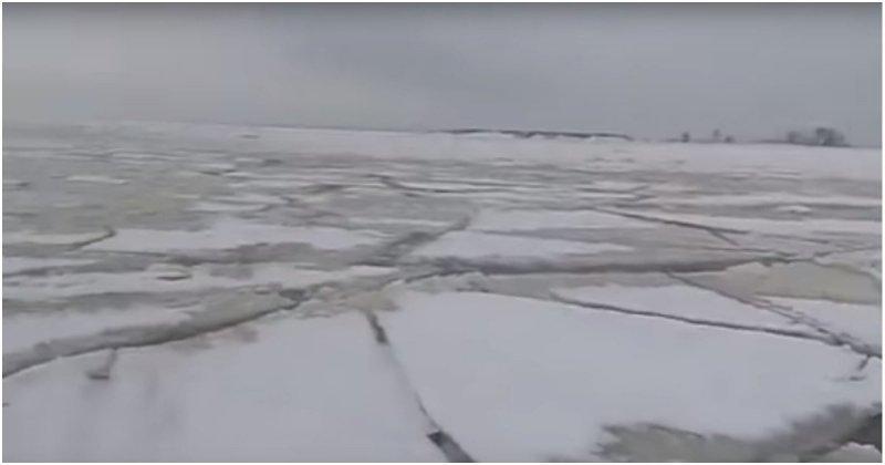 Рыбаки плакали, тонули, но продолжали выходить на лёд весна, видео, зима, лед, повезло, россия, рыбак