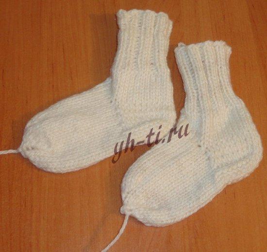 Как связать носки спицами для детей