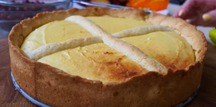 песочный пирог в духовке