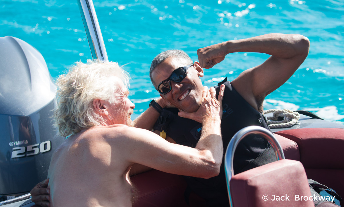 """""""Когда происходящее в стране уже не твои проблемы"""": Отпуск Обамы в гостях у миллиардера Брэнсона"""
