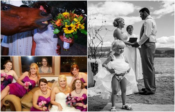 Уморительные свадебные фотог…