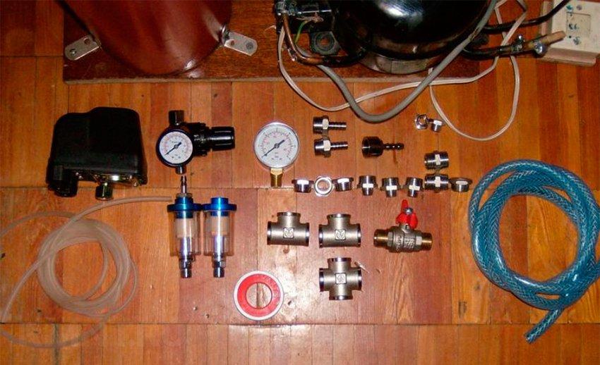 Материалы для сборки самодельного компрессора