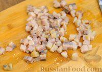 Фото приготовления рецепта: Шпинатные блинчики с начинкой из сельди - шаг №8