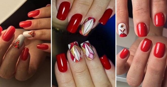 Красные ногти – дизайн 2018 на короткие и длинные ногти на все случаи жизни