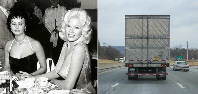 Авто-факт: какая связь между голливудской блондинкой и бампером на грузовике?