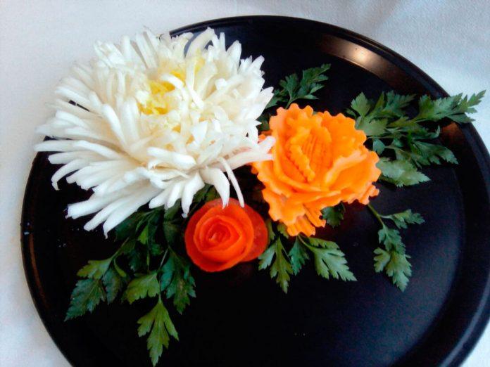 Ютуб цветы из овощей