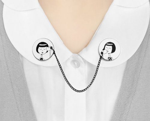 看看这些创意的衣领饰 - maomao - 我随心动