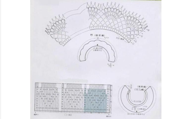 Схема к красивым воротничкам и манжетам крючком для школьной формы