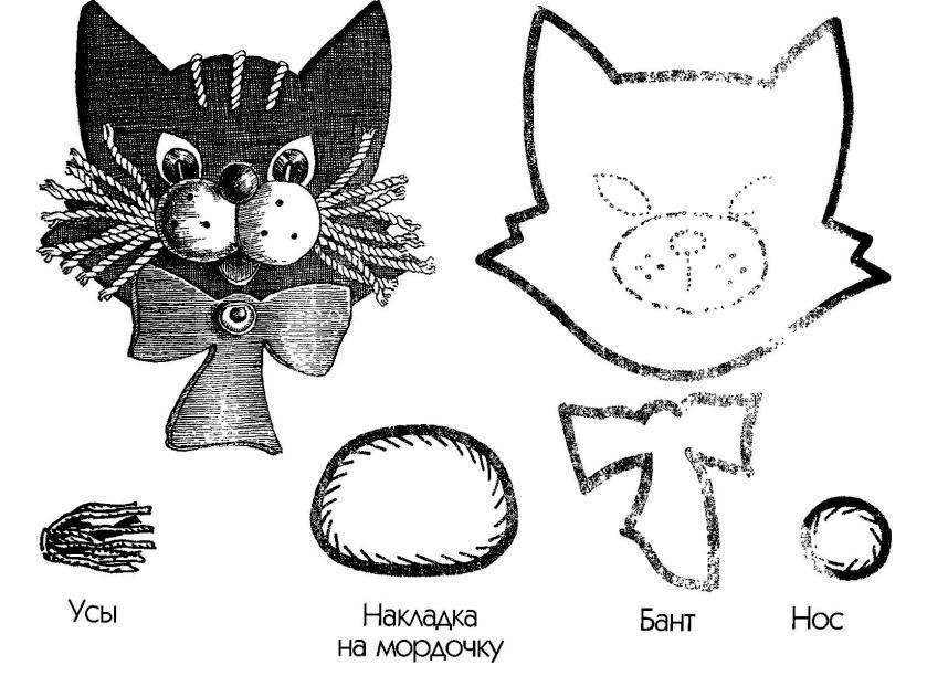 Как сделать мордочку для кота