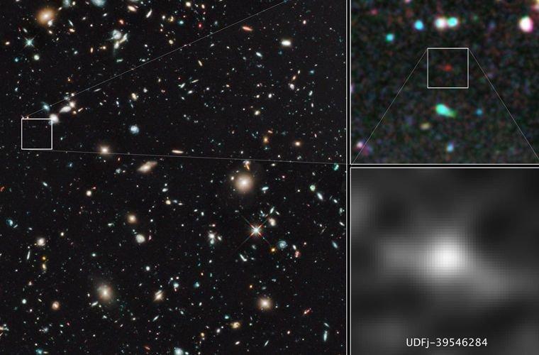 Самая далекая галактика вселенная, планета, познавательно, рекорды, удивительно