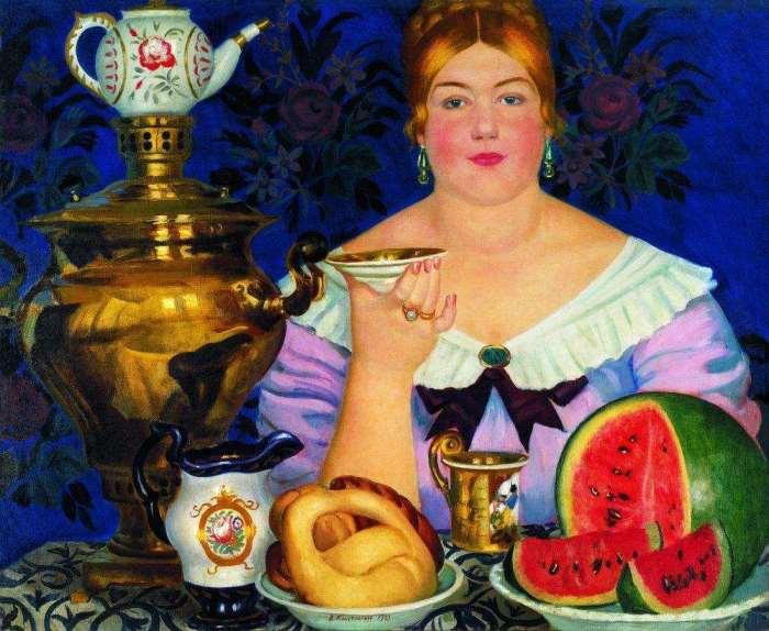 Загадка самой известной картины Кустодиева: кем на самом деле была «Купчиха за чаем»