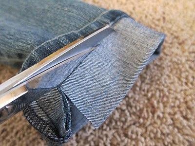 Подшиваем джинсы с сохранением фабричного шва 4