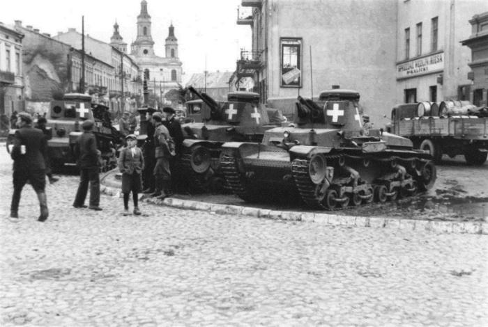 Немецкий танк в Польше, 1939 год. /Фото: waralbum.ru