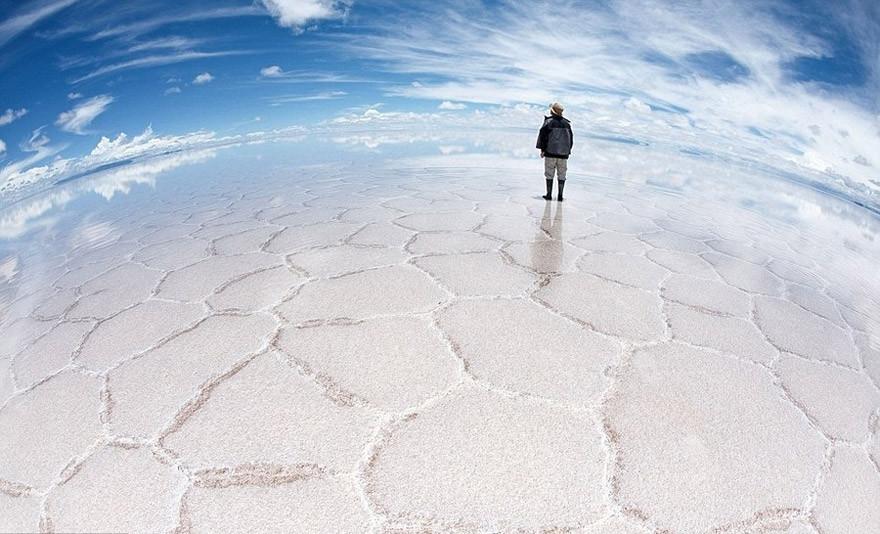 16. Солончак Уюни, Боливия земля, красота, планета, природа