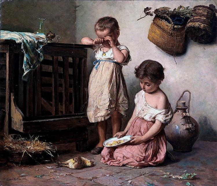 Художник Antonio Rotta (1828 – 1903). Итальянский академизм