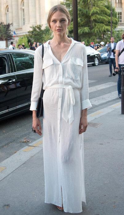 модное платье рубашка сочетания