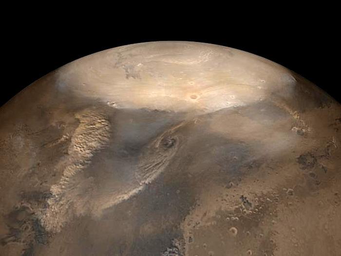 На холодных, сухих планетах тоже могут бушевать многочисленные смерчи и ураганы