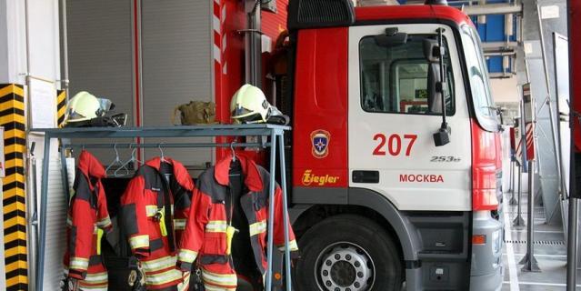 В Подмосковье загорелся автобус с 47 пассажирами