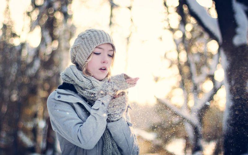 Фото и картинки девушки зимой