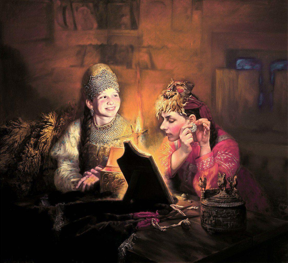 Древние обряды и наряды из бабушкиного сундука - наполненные красотой и духовной силой картины Юрия Сергеева