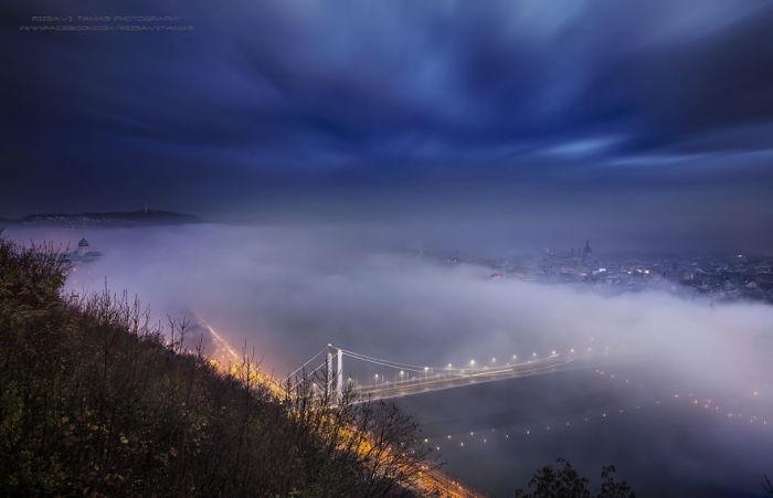 Туман над Дунаем. Автор фото: Tamas Rizsavi.