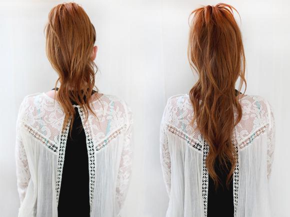Как сделать видимость длинных волос из коротких