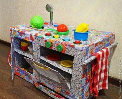 Мастерим кухонную плиту для ребёнка