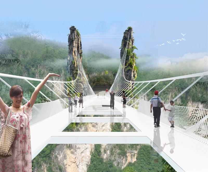 В КНР теперь находится самый длинный в мире стеклянный мост