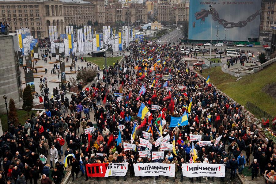 """Как Марш Саакашвили  против Порошенко и """"барыг"""" увидели СМИ, украинские и американские"""