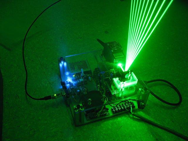 Как сделать лазерную шоу