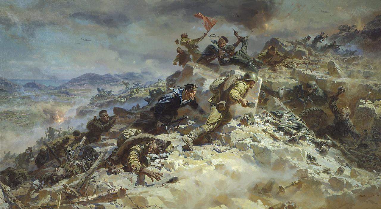 Советская живопись: Картины о Великой Отечественной войне. (30 работ)