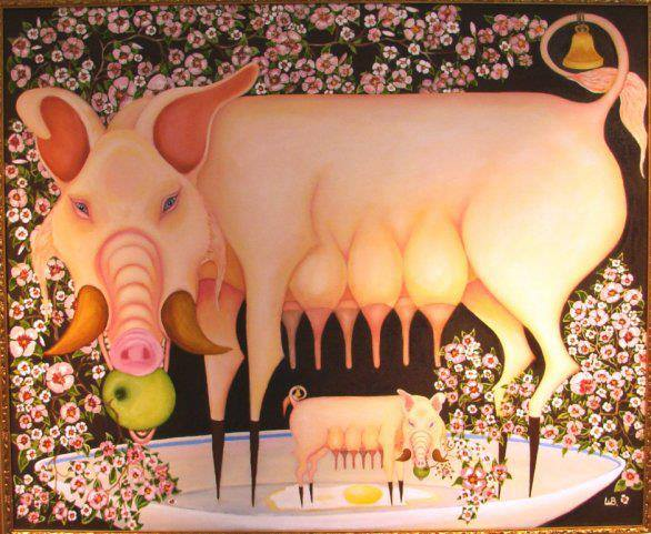 Свинья на блюде