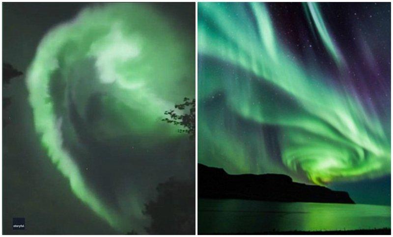 Камера засняла фееричный танец северного сияния над Лапландией