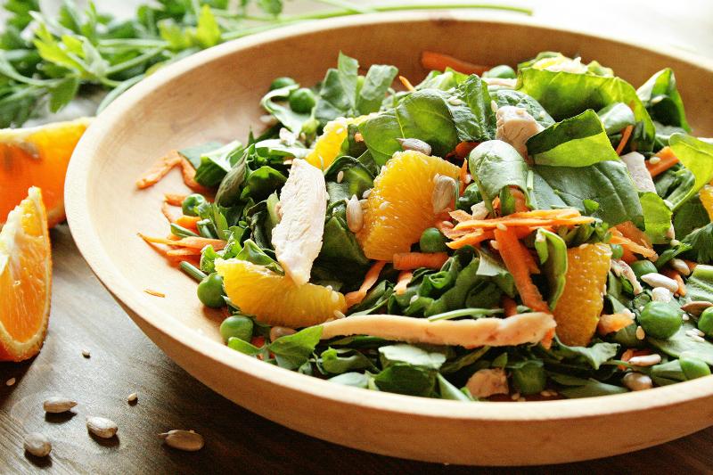 легкий овощной салат