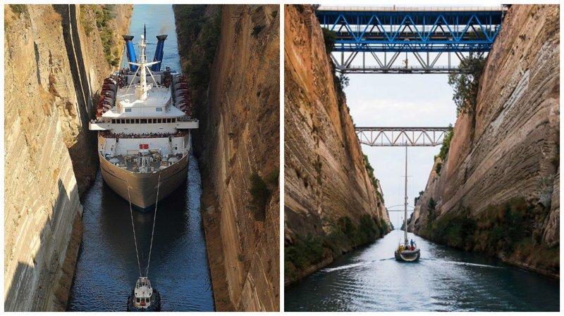 Коринфский канал - самый узкий канал в мире