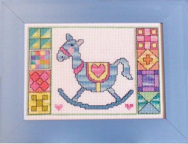 Вышивка крестом для деток. Схема «Лошадка»