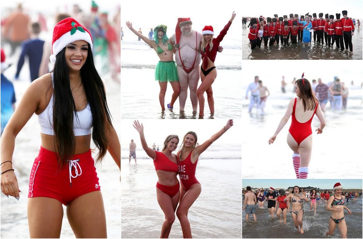 Тысячи британцев приняли участие в ежегодных рождественских купаниях