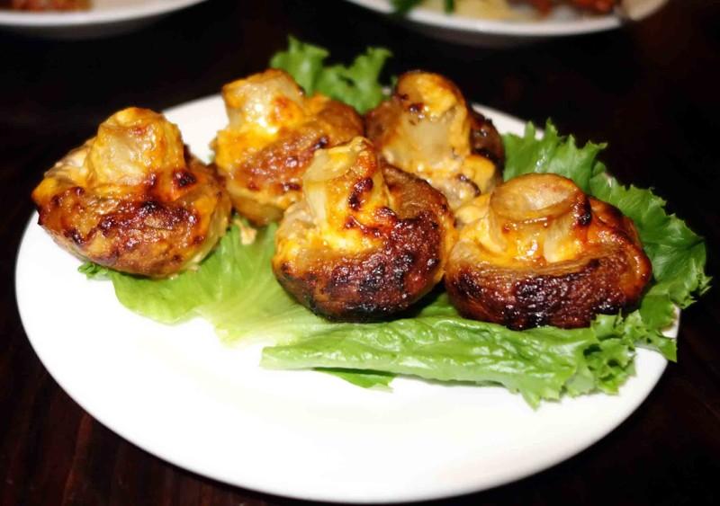 Шашлык из шампиньонов вкусно, грибы, интересное, красиво, познавательно, полезно, рецепты