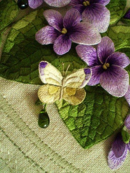 Восхитительная объёмная вышивка Светланы Южалиной